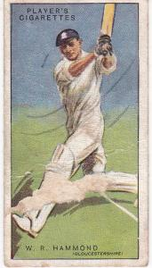 Cigarette Cards Player's Cricketers 1930 No 21 - W R Hammond
