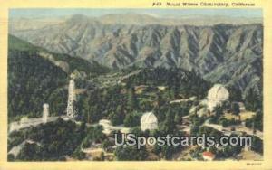Mt. Wilson Observatory