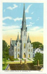 French Catholic Church St. Johnsbury Vermont VT, Linen
