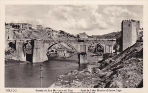 Spain Toledo Puente de San Martin y rio Tajo Real Photo