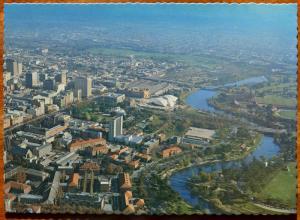 Adelaide South Australia AU Aerial View Adelaide City Vintage Postcard D31