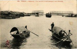 VIETNAM INDOCHINE - Tonkin - Haiphong - Pont tournant livrant passage (190091)