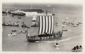 RP: RAMSGATE , England, UK , 30-40s ; Viking Ship Entering Port