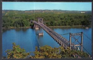 Susoension Bridge,Mississippi River Between Marquette,IA and Paririe du Chien,WI