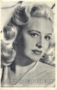 Marilyn Maxwell Trade Card Actor, Actress, Movie Star, Postcard Post Card Act...