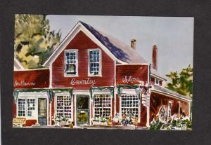VT Shelburne Country Store Vermont Postcard Painting