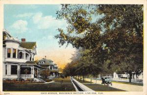 Live Oak Florida Residence Section Ohio Ave Antique Postcard K78791