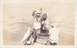 RP, Fishermen On A Boat, Fishing, St. Augustine, Florida, 1912 (3)