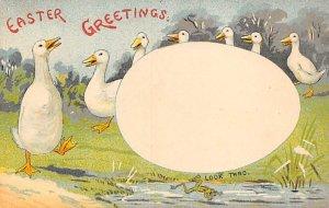 Easter Greetings Hold to Light Unused