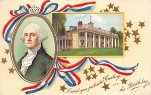 I send you patriotic greetings on his birthday Artist Ellen Clapsaddle George...