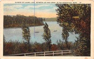 Glimpse of Laurel Lake in Lenox, Massachusetts In the Berkshire.