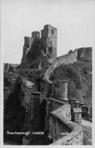 Scarborough Castle Ruins Chateau Postcard