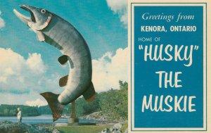 KENORA , Ontario , Canada , 1950-60s ; Husky the Muskie