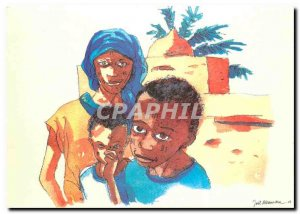 Postcard Modern Children sands Mali
