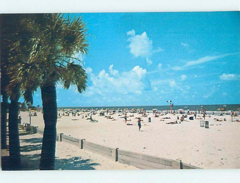 Unused Pre-1980 BEACH SCENE Clearwater Beach - Near Tampa Florida FL G5675