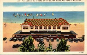 Florida Pass-A-Grille Beach Hotel On Gulf Of Mexico Curteich