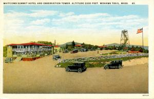 MA - Berkshires, Mohawk Trail. Whitcomb Summit Hotel & Observation Tower