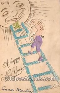 Happy New Year  Postcards Post Cards Old Vintage Antique  Happy New Year