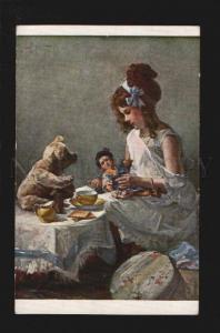 075001 Girl in Nighty & TEDDY BEAR & GEISHA DOLL by BEITZ old