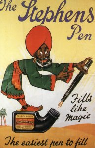 The Stephens Fountain Pen Antique Advertising German Poster Postcard