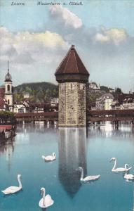 LUZERN, Switzerland, 1900-1910's; Wasserturm V. Gutsch