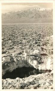 Death Valley California 1930s Plutos Salt Pool Frasher RPPC real photo 6798