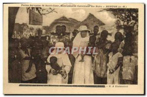 Old Postcard ads servants of the Sacred Heart Missionaries catechists black M...