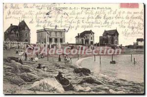 Old Postcard The Lin Croisic Port Beach