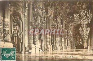 Old Postcard Paris Theater National de l'Opera Grand Foyer