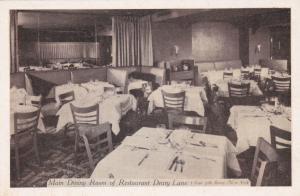 Restaurant Drury Lane , NEW YORK CITY , 1930s ; 5 East 57th Street