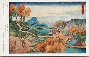 Kunisada Autumn Japan Japanese Art British Museum Waterlow & Sons Postcard F13