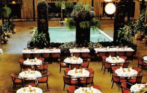 BC, Canada FORT NELSON MOTOR HOTEL~Tiki Courtyard ROADSIDE Alaska Hwy Postcard
