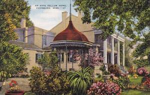 Mississippi Vicksburg An Ante Bellum Home