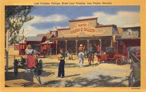 Las Vegas Nevada~Last Frontier Village~Museum & Saloon~1940s Postcard