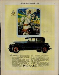 1927 Packard Car Leadership Vintage Print Ad 3914