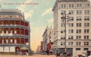 San Antonio Texas~East Houston Street~Bexar Drug Co~Davy Crockett Train Ad~1908