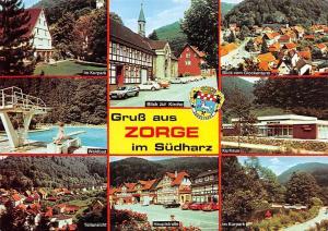 Germany Zorge multiviews Im Kurpark Teilansicht Kurhaus Glockenturm Schwimmbad