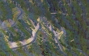 Arizona Oak Creek Canyon Switchbacks Into Oak Creek Canyon