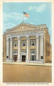Defiance OH~$5M Capital~Home Savings & Loan Ass'n~4 Columns~Tuttle Museum~1922