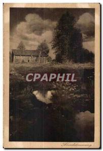 Old Postcard Abendstimmung
