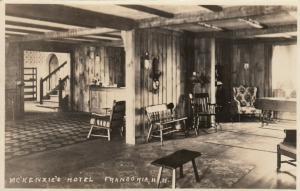 RP: FRANCONIA , New Hampshire , 1937 ; McKenzie's Hotel , Interior