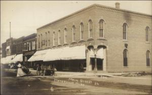 Waterville MN Main St. Scene c1910 Real Photo Postcard EXC COND