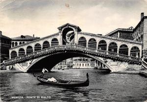 Italy Venezia - Ponte di Rialto, gondola, boat bateau 1949