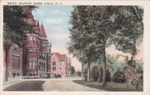 New York Utica Drive Masonic Home 1921