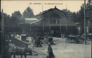 Medea Algeria Market Scene c1915 Postcard