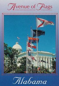 Alabama Montgomery Greetings Avenue Of Flags On State Capitol Grounds