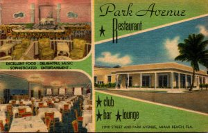 Florida Miami Beach Park Avenue Restaurant 22nd Street and Park Avenue