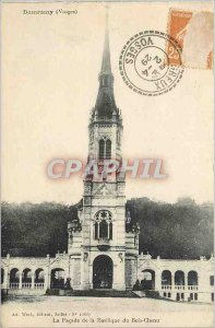 Old Postcard Domremy Vosges Facade of the Basilica of the Bois Cheau