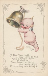 Kewpies ; NEW YEAR Bell , 1900-10s , AS Rose O'Neill