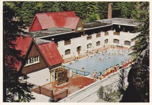 Swimming Pool,  Miette Hot Springs,  Jasper National Park,  Jasper,  Alberta,...